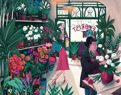 A day at the florist - Human view