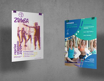 Affiche pour une association de sport