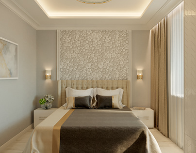Modern bedroom with classic elements