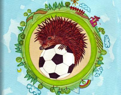 A strange ball...Children's book illustration