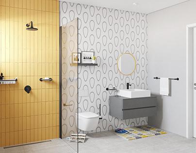 Bathroom_01 , Render exercise