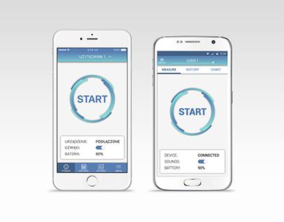Blood Pressure Monitor application design