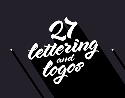 27 logos and lettering