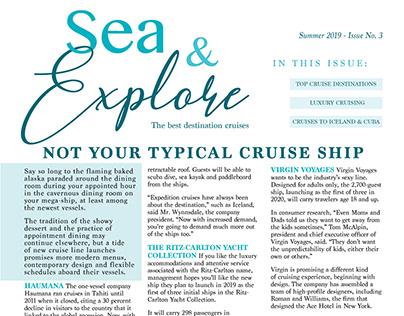 """Sea & Explore"" Cruise Newsletter"