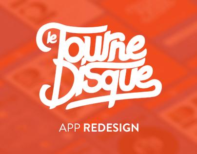Le Tournedisque | app redesign