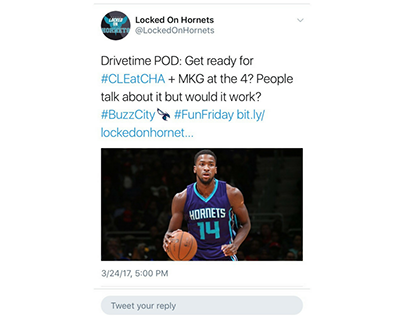Locked On Hornets Sample Tweet 3