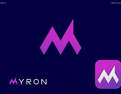 Modern & simple M letter mark logo design .