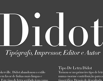 Poster Desdobrável Didot