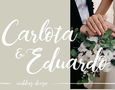 C&E | WEDDING DESIGN: Logo & Invitations