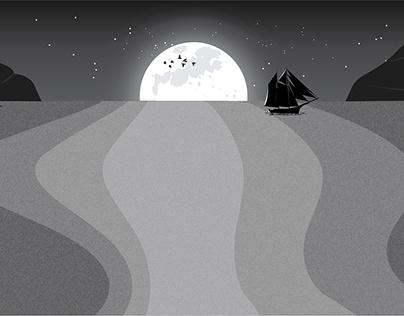 A Moonlight Night by Frank Sinatra - illustration