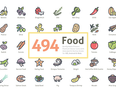 494 Food Vector Icons