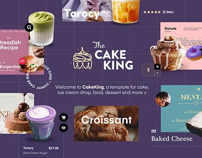 The Cake King - Multipurpose Template