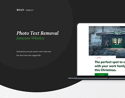Photo Text Removal