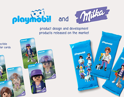 Playmobil and Milka promotional items