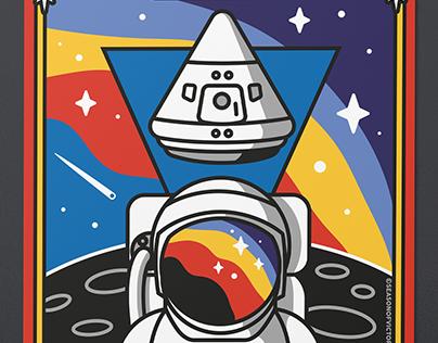 Illustration – 50th anniversary, Apollo 11 moon landing