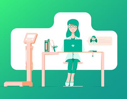 Nutrium: Brand Illustrations & Website