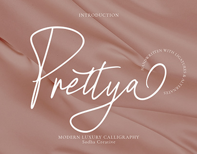 Prettya - Elegant Modern Script