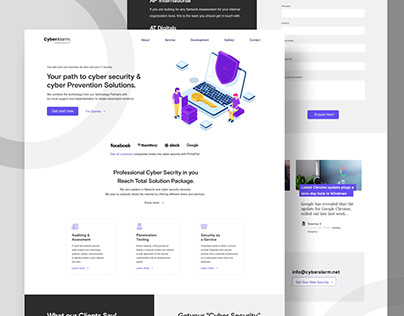 Cyber Security Website UI/UX