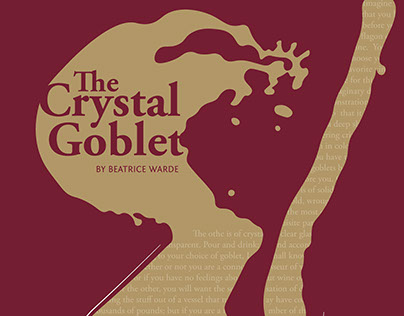 """Typographic Poster- """"The Crystal Goblet"""""""