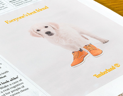 Timberland's advert - shoe advert - by Camille Obligis