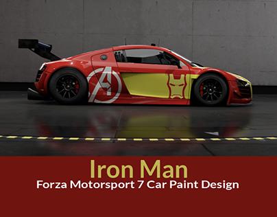 Iron Man Forza Motorsport 7 Car Paint Design