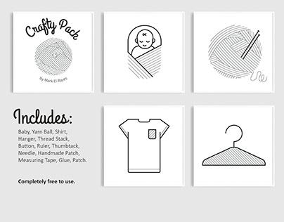 Crafty Pack // Free Icon Set