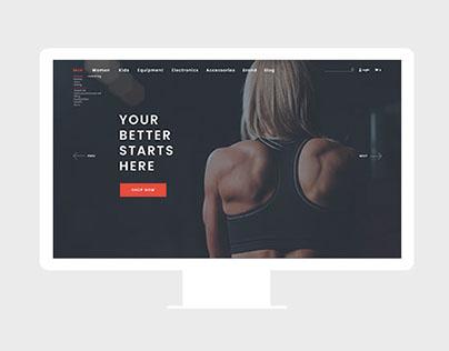 Web Design for E-Commerce Sports Brand
