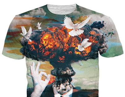 Vụ nổ boom nguyên tử in áo thun đẹp tuyệt vời !