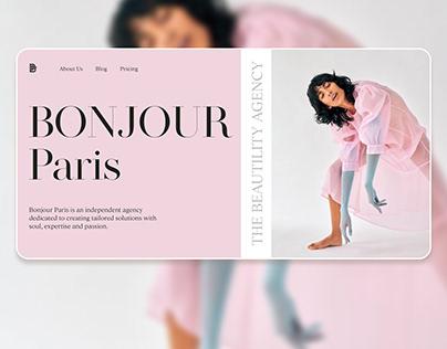 Main screen design   Bonjour Paris