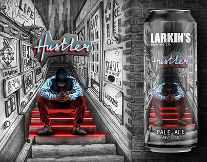 Hustler: Beer Label Illustration and Design