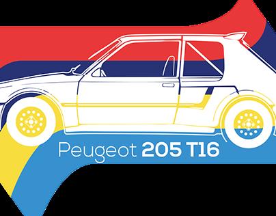 Peugeot 205 T16 Flat design