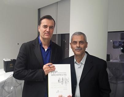 Jihad Awad with Patrik Schumacher