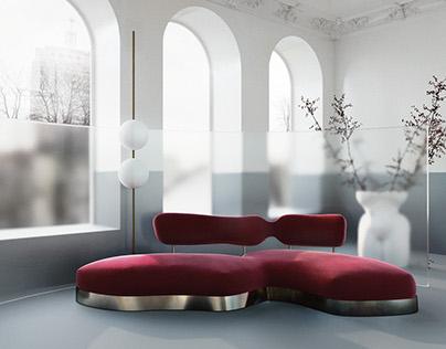 Sofa Cicatrice. Furniture design