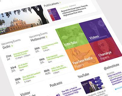 Australia India Institute : Website Redesign