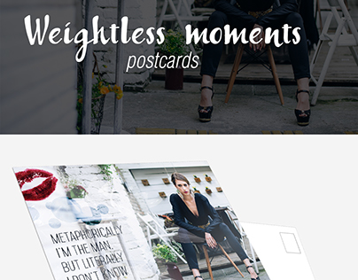 Weightless moments :: postcards