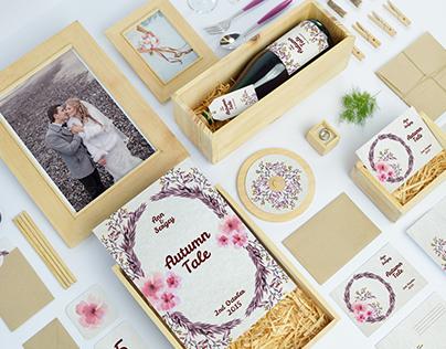 """Identity for Ann&Sergey Wedding """"Autumn Tale"""""""