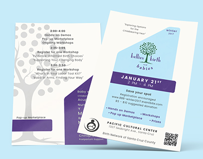 Bellies, Birth and Babies Logo and Flyer design