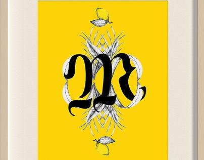 Typography illustrated * Yellow *