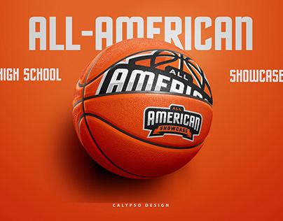 Sports Logo for All American Basketball Showcase