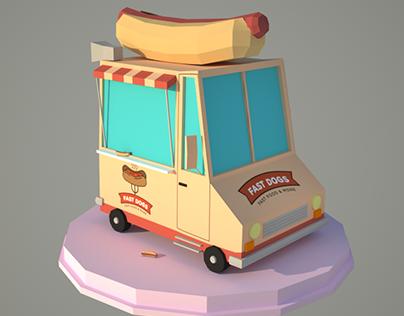 LowPoly Art: HotDog Car