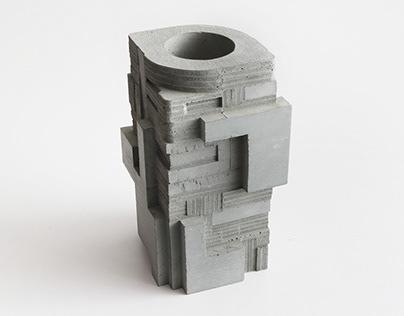 Concrete Square Vase no.4