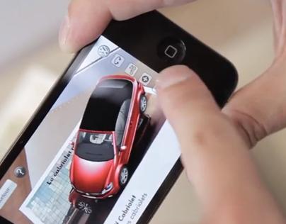 Volkswagen Virtual GOLF CABRIOLET Augmented Reality App