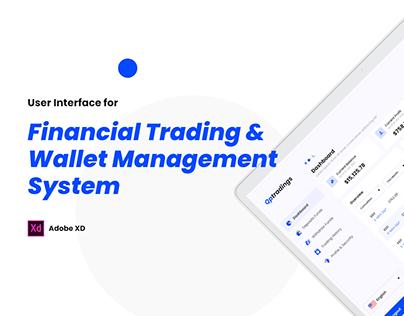 Financial Dashboard Design
