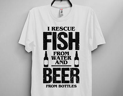 Fishign T-shirt Design