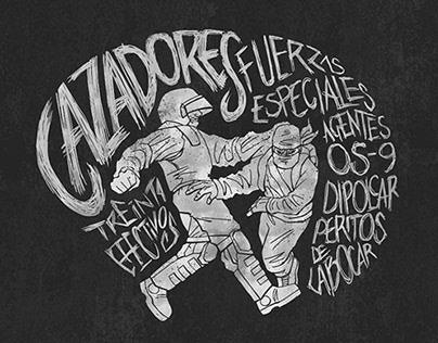 Proyecto de lettering: 'Disturbios' (2012)