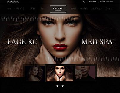 Face spa, Aesthetics website design