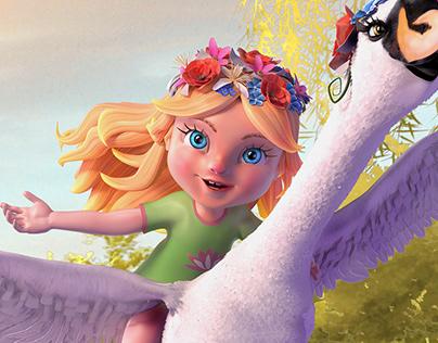 Kukkonia - Fairy Ilona (3D character design)