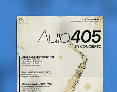 Poster Design – Aula 405 Concert