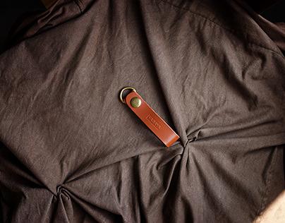 Móc chìa khóa da handmade Simple