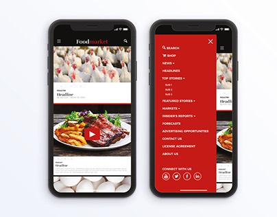 Foodmarket.com Redesign